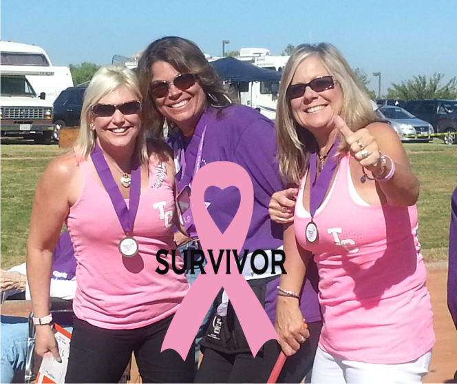 Janelle, Kathy and Kimbo at Relay for Life 2013